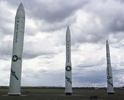 Air Force ballistic missiles on static display. Officials publicly acknowledged the alleged test-cheating in January.
