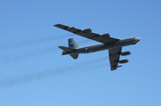 A U.S. B-52 bomber, shown in 2010. A senior Defense Department official on Friday said the mandatory spending cuts that took effect on March 1 would not affect flight operations involving the nation's nuclear-capable aircraft (AP Photo/Randy Holt).