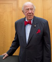 Former U.S. Secretary of State George Shultz, shown in 2012, on Friday renewed his call for the Senate to ratify the Comprehensive Test Ban Treaty (AP Photo/Deutsche Presse Agentur).
