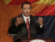 Representative Trent Franks (R-Ariz.), shown in 2010, is a leader of the House caucus seeking to highlight the danger an electromagnetic pulse could pose to the United States (AP Photo/Matt York).