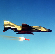 "An F-4 Phantom 2 aircraft releases a U.S. B-83 nuclear gravity bomb in 1983. The United States is giving an ""unclear"" sense of how quickly it is dismantling weapons removed from the nuclear arsenal, the Government Accountability Office said."