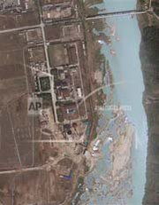 North Korea's Yongbyon nuclear complex, shown in April 2012. Analysis of recent satellite photographs suggests the North could be within weeks of beginning start-up for a new experimental light-water reactor at Yongbyon that could be used to produce weapon-usable plutonium (AP Photo/GeoEye).
