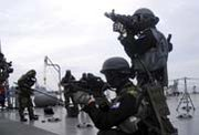 South Korean army special forces troops participate in an October 2010 Proliferation Security Initiative drill. The United States and Poland are organizing a May 28 meeting in which high-level delegates will consider the future of the WMD smuggling prevention program (AP Photo/South Korean Defense Ministry).