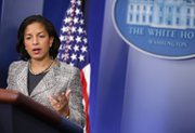 U.S. National Security Adviser Susan Rice speaks during the White House daily briefing in March. Rice is due in Israel this week, where the topic of Iran's nuclear program will be one item on the agenda.