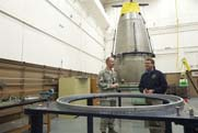 Deputy Defense Secretary Ashton Carter visits a missile warhead maintenance facility at Minot Air Force Base in North Dakota in November 2012. Seventeen officers from a missile wing have been removed from their assignment at an ICBM control site at the base (U.S. Defense Department photo).