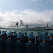 A Chinese missile frigate docks in Hong Kong in 2012. A new analysis warns that China's development of advanced cruise missiles raises the risk of its technology spreading to other countries.