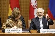 European Union foreign policy chief Catherine Ashton and Iranian Foreign Minister Mohammad Javad Zarif take part in a multilateral meeting on Wednesday. Iran and six world powers began talks aimed at starting work on language for a potential long-term nuclear agreement.