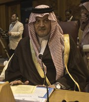 Saudi Foreign Minister Saud al-Faisal, seen last month, on Tuesday floated a proposal for Iran's top diplomat to visit his country.
