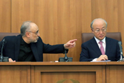 Iranian Atomic Energy Organization head Ali Akbar Salehi, left, takes part in a November press conference with International Atomic Energy Agency Director General Yukiya Amano. The U.N. nuclear watchdog declined to say whether Iran turned over atomic data requested by Thursday.