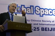 Center for Strategic and International Studies President John Hamre, shown in 2008 at a space summit in Beijing. A former deputy Defense secretary, Hamre recently led an effort to ask President Obama to take a case-by-case approach to nuclear trade and nonproliferation (AP Photo/Ng Han Guan).