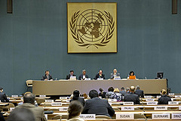 "The international ""open-ended working group"" in Geneva, Switzerland, on Thursday conducts a session addressing ""Taking forward multilateral nuclear disarmament negotiations"" (United Nations photo)."
