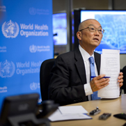 World Health Organization Assistant Director-General Keiji Fukuda, shown at a press conference last week. Staffers at Fukuda's agency have called for a new assessment of emerging technologies potentially capable of constructing smallpox from scratch.