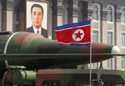 A purported new North Korean missile is rolled out during an April 2012 parade in Pyongyang. Experts on Thursday questioned Air Force assertions that China and North Korea are developing nuclear-capable cruise missiles (AP Photo/Ng Han Guan).