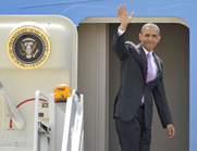 President Obama, shown Thursday while boarding Air Force One, is likely to face major obstacles in Congress to his second-term nuclear arms control agenda, experts said (AP Photo/Paul Beaty).