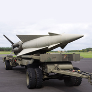"NATO anti-aircraft missile ""Nike"", tipped with explosives or a small nuclear weapon to wipe out an entire bomber formation"