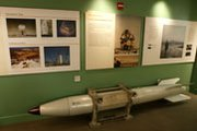 The empty casing of a U.S. B-61 nuclear gravity bomb, shown on display in 2005 at a museum in Las Vegas. A new Pentagon analysis says the National Nuclear Security Administration has underestimated the cost and schedule for modernizing the weapon (AP Photo/Joe Cavaretta).