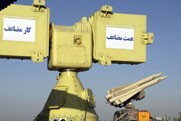 Components of Iran's Mersad air-defense system, shown in April 2010. Iran intends to test the weapon during large-scale military drills that began on Monday (AP Photo/Iranian Defense Ministry).