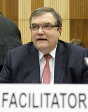 "Finnish diplomat Jaako Laajava, the designated ""facilitator"" for a planned 2012 summit on establishing the Middle East as a WMD-free zone, shown in May. Diplomats on Saturday said the event has been canceled (AP Photo/Ronald Zak)."