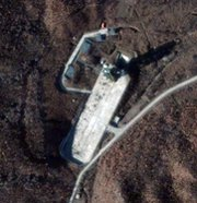 The United States is reportedly preparing countermeasures against a potential North Korean launch of a long-range missile from the Dongchang-ri site, shown in a Friday satellite image (AP Photo/DigitalGlobe).