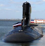 "The Virginia-class attack submarine USS New Mexico, shown in 2010. A top-level Pentagon warfighting requirements board on Tuesday is expected to examine a Navy concept for a new submarine-based weapon for U.S. non-nuclear ""prompt global strike,"" according to defense insiders (AP Photo/U.S. Navy)."