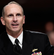 Chief of Naval Operations Adm. Jonathan Greenert on Thursday testifies before the Senate Armed Services Committee. He said budget pressures make him very concerned about a funding shortfall for the SSBN(X) Ohio-class ballistic-missile submarine effort (Win McNamee/Getty Images).