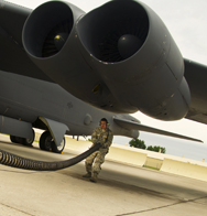 A B-52H Stratofortress at Minot Air Force Base, N.D., in August is inspected prior to take-off. The Air Force on Wednesday said candidates for senior nuclear weapons-related positions would be subjected to a more rigorous screening process following the dismissal of a top command officer reportedly for alcohol-related issues (U.S. Air Force photo).