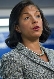 U.S. national security adviser Susan Rice speaks at an event in Washington in September. The White House official on Wednesday said there would be no negotiations with North Korea until it halts certain nuclear weapons-related activities (Nicholas Kamm/AFP/Getty Images).