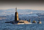 The British ballistic missile submarine HMS Vengeance. A U.K. parliamentary report cites a U.S. base in Georgia as one possible temporary home for British nuclear-armed submarines if the vessels are forced out of an independent Scotland (Royal Navy photo).