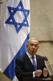 Israeli Prime Minister Benjamin Netanyahu delivers remarks to his nation's legislature earlier this week. The Obama administration is expected to brief Israeli officials and U.S. lawmakers on a meeting where Iran unveiled a proposal for addressing international tensions over its nuclear program (Gali Tibbon/AFP/Getty Images).