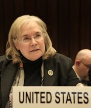 "U.S. Special Representative Laura Kennedy on Monday said a chance had been missed to ""do something new"" to help strengthen an international accord prohibiting the creation, manufacturing, possession and use of biological warfare materials, according to a United Nations release (U.S. Mission to International Organizations in Geneva photo)."