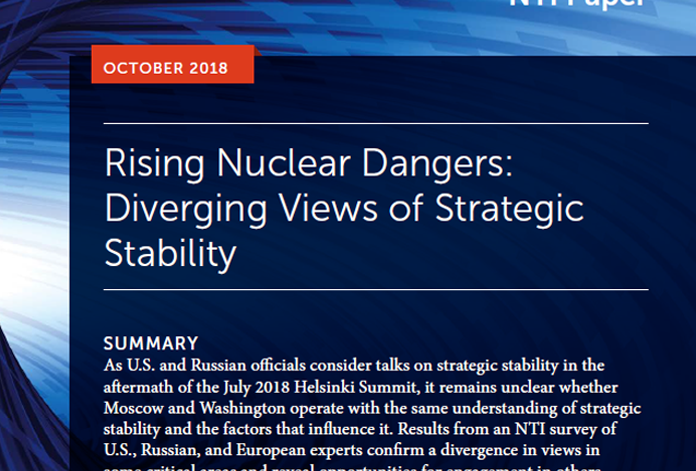 Rising Nuclear Dangers: Diverging Views of Strategic Stability