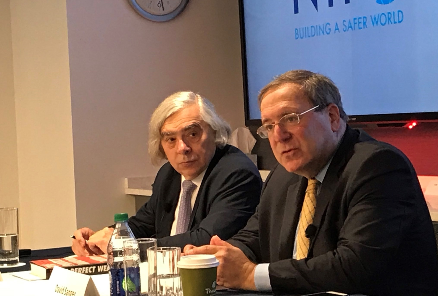 David Sanger and Ernest Moniz