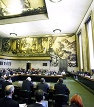 The Conference on Disarmament, shown in session last year in Geneva, Switzerland. The arms-control forum completed its work for 2013 last Friday still stuck in political gridlock (U.N. photo).