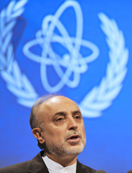 Iranian Atomic Energy Organization head Ali Akbar Salehi on Monday speaks at the International Atomic Energy Agency General Conference in Vienna, Austria (AP Photo/Hans Punz).
