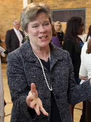 Acting under secretary of State for arms control and international security Rose Gottemoeller is shown in a May file photo. The Senate Foreign Relations Committee is weighing whether to confirm her to the position in an official capacity (AP Photo/Jim Cole).