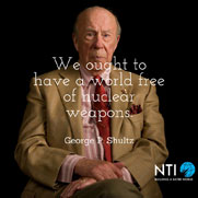 NTI Celebrates Former Secretary of State George Shultz's 95th Birthday