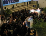 The audience gathers for the official launch of WINS in Vienna, Austria.