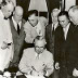 Truman signing the Atomic Energy Act of 1946.