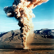 The Baneberry underground nuclear test, conducted at the Nevada Test Site (NTS) on December 18, 1970, released radioactivity into to the atmosphere resulting in a cloud of radioactive dust that reached an altitude of 10,000 feet.
