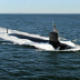 A U.S. Virginia-class submarine conducts sea-trials in the Atlantic Ocean in July 2010. Virginia-class submarines utilize a single load of HEU fuel, designed to last the full 30-year life of the vessel.