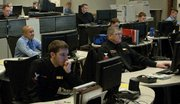 (May. 12) -U.S. Navy personnel monitor military computer networks in 2008. The head of U.S. Strategic Command said that the United States reserves the option to use military force, possibly even nuclear weapons, in response to a cyber attack (U.S. Navy photo).