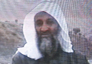 (Sep. 9) -Al-Qaeda leader Osama bin Laden, shown on a Saudi-owned television network in 2002. Bin Laden reportedly provided guidance to an al-Qaeda cell that plotted an attack that was foiled last year in Barcelona, Spain (Getty Images).