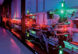 (Oct. 28) -Laser isotope separation equipment. Experts warned Monday that use of laser technology to enrich uranium could lead more nations to acquire the ability to produce nuclear-weapon material (U.S. Lawrence Livermore National Laboratory photo).