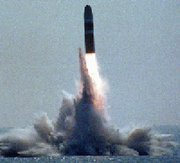 (Jan. 7) -The United States and the United Kingdom might jointly develop a single fuse for use on three different nuclear weapons, including one of the warheads deployed on the Trident D-5 submarine-launched ballistic missile, shown above (U.S. Navy photo).