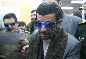 (Jan. 26) -Iranian President Mahmoud Ahmadinejad, shown watching a 3-D presentation on his nation's space program in 2008, has dismissed evidence relating to an alleged Iranian office handling military aspects of Tehran's nuclear program (Getty Images).