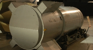 (Feb. 22) -U.S. officials said a proposed funding cut for the country's nuclear-weapon dismantlement program would not undermine plans to disassemble and dispose of nuclear weapons such as the B-53 bomb, shown above (U.S. Air Force photo).