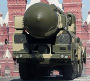 (Mar. 3) -A Russian Topol-M ICBM, displayed at a parade last May in Moscow's Red Square. Russia and the United States could finish negotiating a key nuclear arms control treaty in April, one U.S. official said (Dmitry Kostyukov/Getty Images).