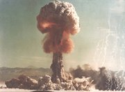 (May. 6) -A 1953 nuclear test in Nevada. The Obama administration has no firm schedule for pursuing ratification of the Comprehensive Nuclear Test Ban Treaty, a White House official said yesterday (Nevada Environmental Protection Division photo).
