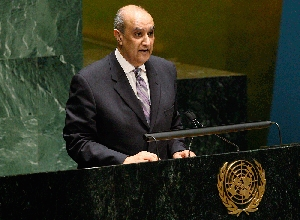 (Jun. 10) -Egyptian Ambassador to the United Nations Maged Abdel Aziz speaks last month at the  outset of the 2010 Nuclear Nonproliferation Treaty review conference. The envoy would not rule out the possibility that Egypt could seek to acquire nuclear armaments (U.N. photo).