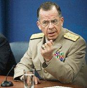 (Jun. 29) -U.S. Joint Chiefs of Staff Chairman Adm. Michael Mullen, shown last week, warned yesterday that Iran might not end its disputed nuclear activities in response to economic pressure (Paul Richards/Getty Images).
